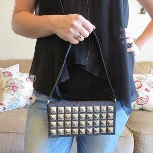 Handbags - Small Black Studded Purse